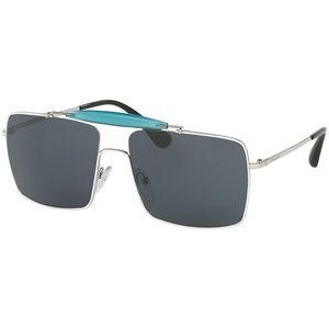 Prada Sunglasses White/Silver w/Blue